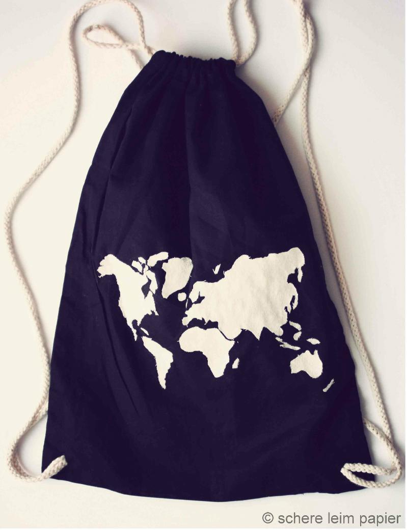Weltkarten-Beutel